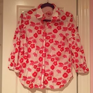 Robert Graham Women's Button Down Shirt Flower M